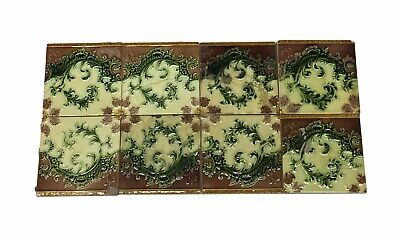 Antique Brown 6 x 6 Floral Tile Set