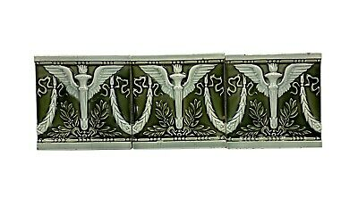 6 x 6 Helman Green Winged Torch Tile Set