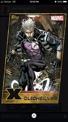 Topps Marvel Collect Digital Quicksilver Gold X-Men Weekly Diecut