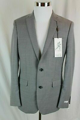 $425 NWT Bar III Men's Slim Fit Active Stretch Grey Suit Jacket 38R Blazer