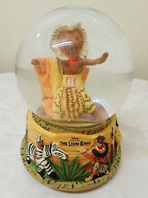 """Disney """"The Lion King Musical"""" Themed Snow Globe/Dome Very Bright, Colourful"""