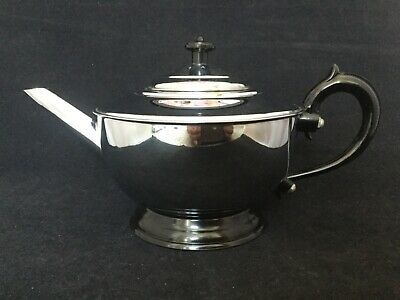 Vintage 1930's Art Deco Stainless Steel & Bakelite? Teapot - Superb Condition