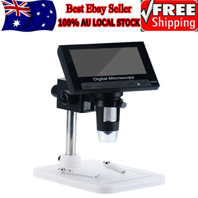 """1000X  4.3"""" LCD 720P Microscope Digital Magnifier Tool USB with Holder AU Stock"""