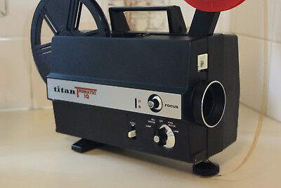 SUPER & STANDARD 8mm SILENT MOVIE PROJECTOR TITAN TRIMATIC IQ - with films!