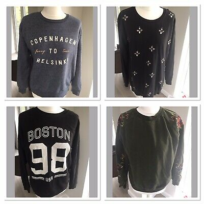 Ladies Womens Sweater Jumper Bundle Size 12-13 Next Primark New Look Embroidered