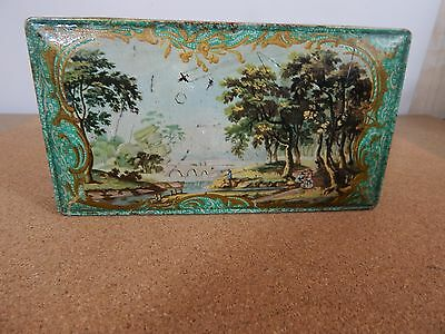 Vintage Barker and Dobson tin Writing box design 18cm x 9.5 cm x 3.5cm