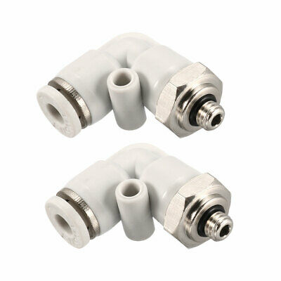Pneumatic Push to Connect Tube Fitting Male Elbow 4mm Tube OD x M5 Thread 2Pcs