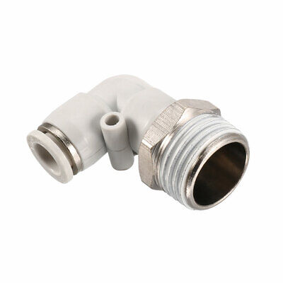 Pneumatic Push To Connect Fitting Male Elbow 8mm Tube OD X 1/2BSPT Thread