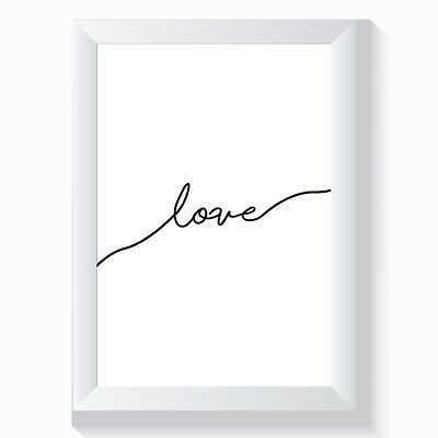 Love Print Gorgeous Home Decor Wall Art Print Living Room Bedroom Or Bathroom