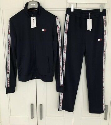 Tommy Hilfiger Mens Track Pants Size S (fit Small To Medium) In Navy