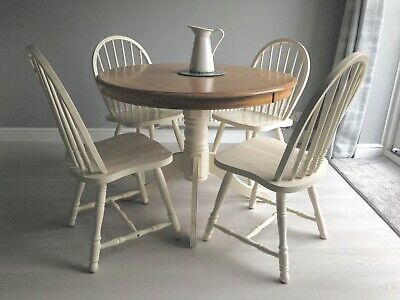 Magnificent Farmhouse Shabby Chic Rustic 6Ft Dining Table Chairs Gmtry Best Dining Table And Chair Ideas Images Gmtryco