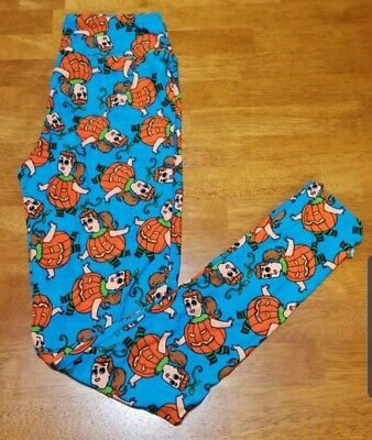 LuLaRoe OS Leggings. Blue Halloween pumpkin costume girl. New with tags