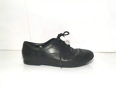 Girls CLARKS Black Lace Up Brogue School Shoes UK 3G Bootleg