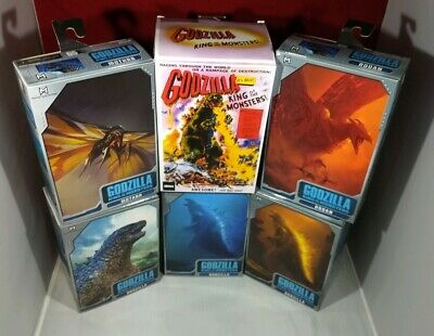 NECA Godzilla King of the Monsters 2019 set plus 1956 movie poster version