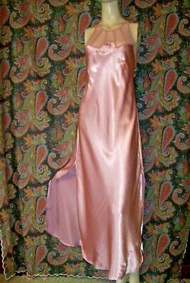 Vintage Victoria's Secret Gold Label Pink Satin Nightgown Nighty Lingerie S
