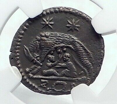 CONSTANTINE I the GREAT 330AD Romulus Remus WOLF Ancient Roman Coin NGC i81669