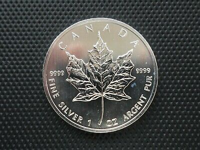 2012 Canadian Silver Maple Leaf 1oz .9999 Bullion Coin by RC Mint New in capsule