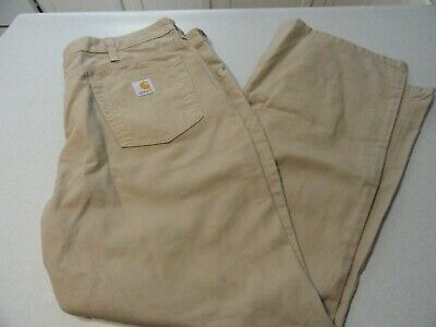Carhartt Traditional Fit Women's Size 16x30 Beige Work Pants WB002 GKH  NWOT