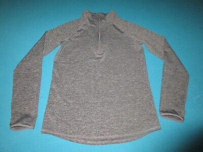 JUSTICE Girls Gray Long Sleeve 1/4 Zip Pullover Size 12