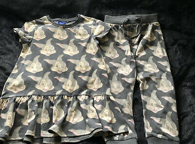 Disney Next Thumper Outfit Long Dress Top & Trousers Age 3-4 Years Fab Condition