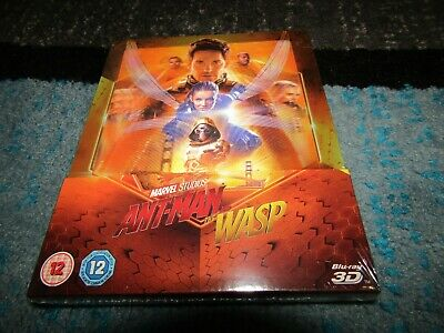 RARE Marvel Ant-Man And The Wasp (3D/2D) UK Lenticular Steelbook ZAVVI EXCLUSIVE