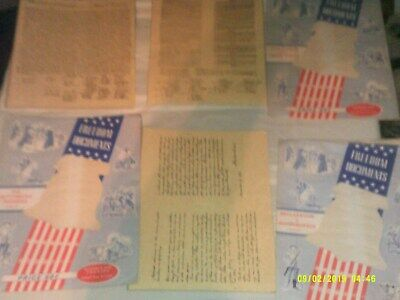 3 Vintage Replica Freedom Documents Contitution Declaration Independence Gettysb