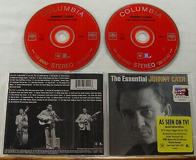 JOHNNY CASH - The Essential - 2 CD Set - 36 Of Johnny's Biggest Hits on 2 CDs**