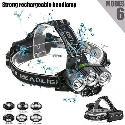 2019 Rechargeable 90000Lm 3T6 Xml Led Headlamp Headlight Head Torch Flashlight
