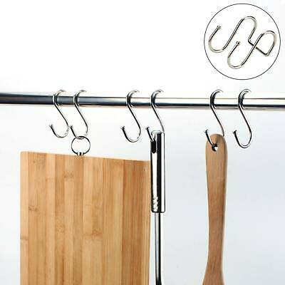 S-Shaped Kitchen Door Double Hanging Hook No Punch Brushes Bags Clothes Hangers