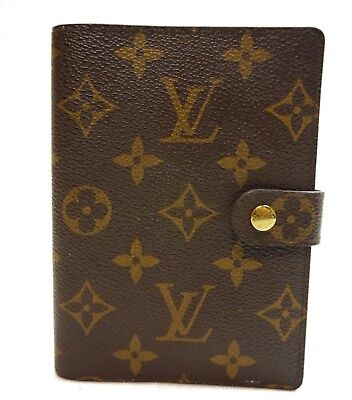 Authentic LOUIS VUITTON Agenda PM notebook cover Monogram PVC #8998