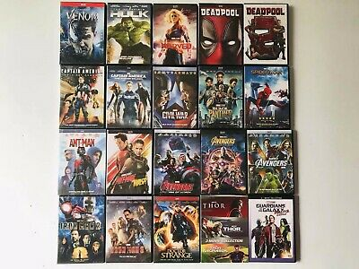 23 Marvel Lot Movie DVD Avengers 123 Thor Ant-man and the Wasp Collection 1 2 3