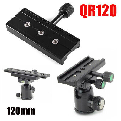 "QR-120 Clamp Adapter Quick Release Plate 1/4"" 3/8"" Tripod 120mm for Arca SWISS"