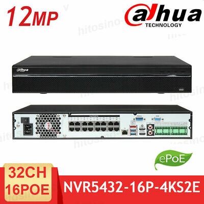 Dahua 4K 32CH NVR5432-16P-4KS2E 16PoE 4SATA H.265 NVR Network Video Recorder