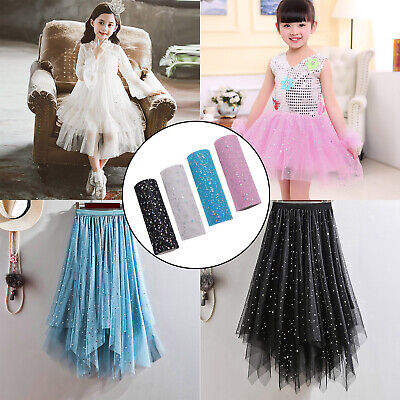 15x914 Glitter Tulle Roll Tutu Bouquet Bridal Lace Wedding Christmas Party Decor