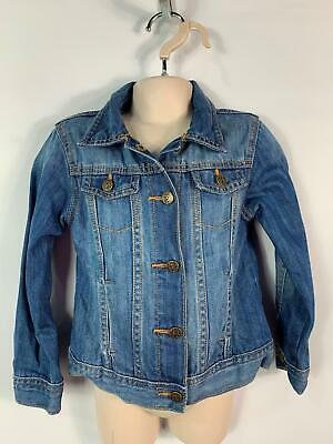 Girls Marks&Spencer Blue Denim Jean Jacket Casual Coat Kids Age 4/5 Years