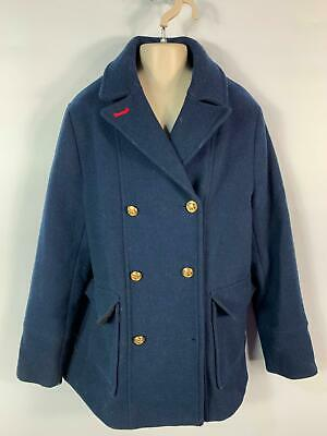 Girls Zara Navy Blue Casual Button Winter Over Coat Jacket Kids Age 13/14 Years