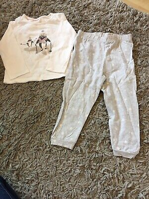Girls M&S Pyjamas 2-3 Years