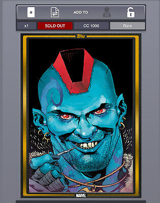 DIGITAL Topps Marvel Collect YONDU #1 Comic Book Day Covers GOLD 1000 cc