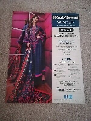 gul ahmed original unstitched suit Winter Collection Embroidered khaadi Maria b