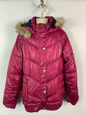 Girls Peter Storm Purple Padded Winter Rain Coat Hood Jacket Kids Age 13 Years