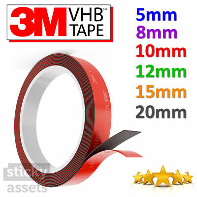 3M VHB™ Double Sided Tape Extra Strong 3M Adhesive Mounting Tape Heavy Duty