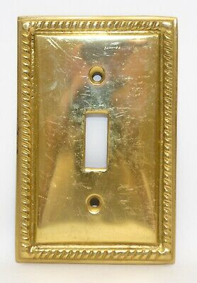 Solid Brass Ornate Metal Electric Wall Light Switch Plate Covers