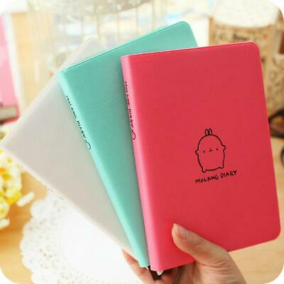"""""""Molang Rabbit 2019 2020"""" Cute Faux Leather Monthly Weekly Planner Agenda"""