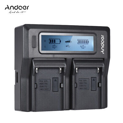 Andoer NP-F970 Dual Channel Camera Battery Charger Shipping for Free UK Q7F6