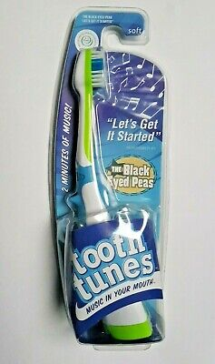 """Tooth Tunes Battery Powered Toothbrush Black Eyed Peas """"Let's Get it Started"""""""