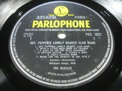 The Beatles Sgt Peppers Lonely Hearts Parlophone Uk First Stereo Near Mint Audio
