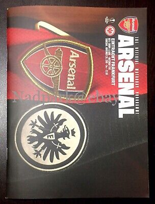Arsenal v Eintracht Frankfurt Programme 2019 November 28/11/19 vs