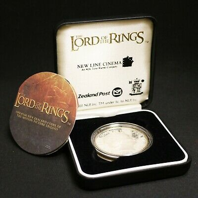 2003 Lord of the Rings New Zealand Post Silver Proof Dollar with C.O.A