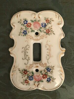 Vintage Porcelain Arnart Creations Japan Single Light Switch Plate Cover 7310