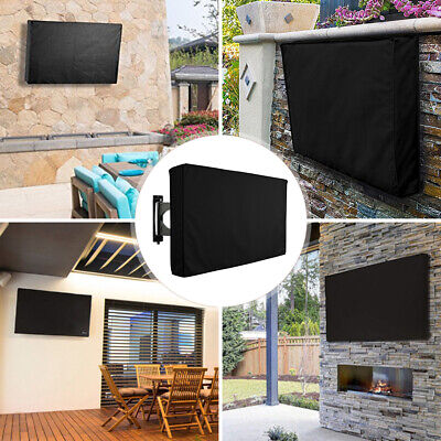 30-58 Inch Waterproof TV Cover Outdoor Patio Flat Television Protector Black AU